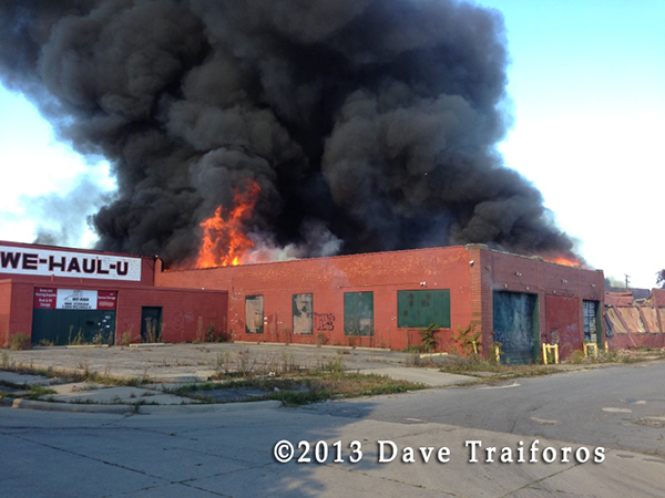 Detroit Fire Department commercial building fire