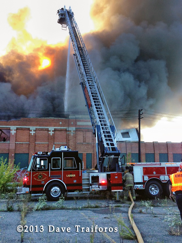 Highland Park Fire Department commercial building fire