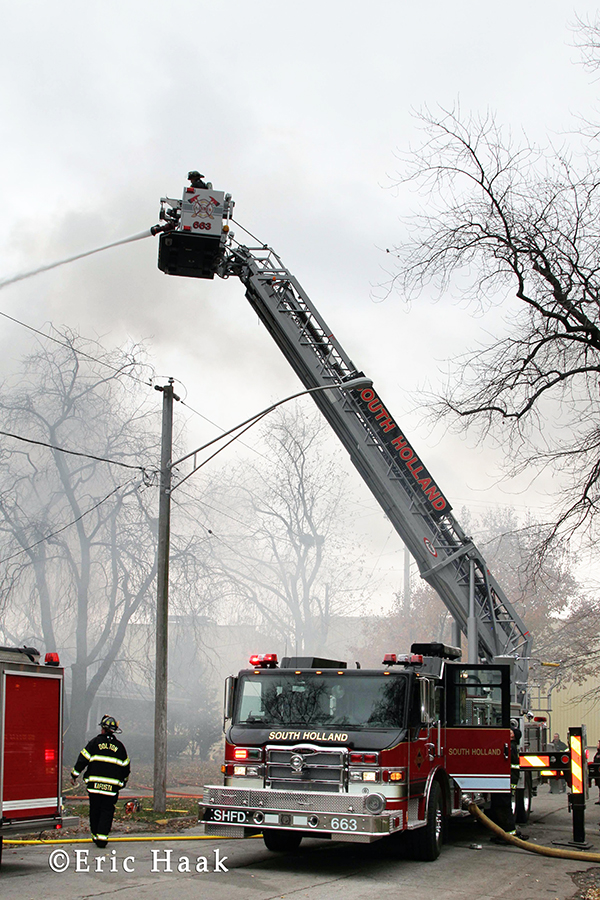 Dolton FIre Department fights house fire