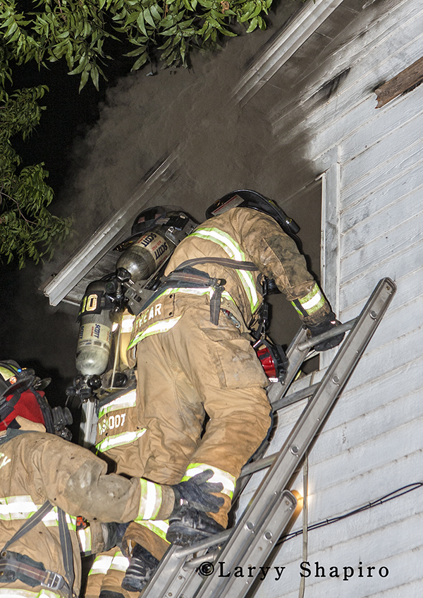 Oklahoma City Fire Department fights house fire