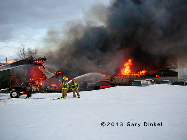 Barn fire in Woolwich Township NJ