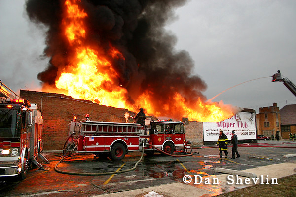 Chicago Fire Department fire at Mr G's Supper Club