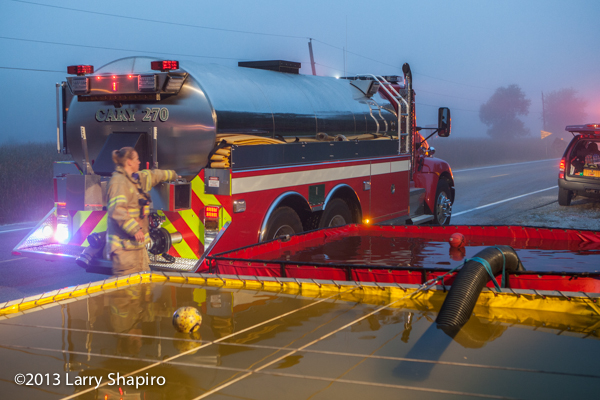 Lake Zurich Fire Department fights house fire in Deer Park IL