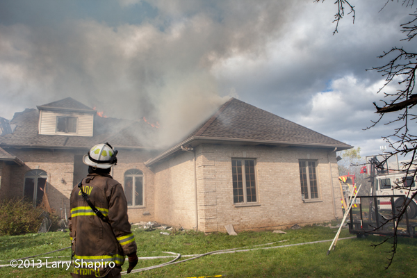 large house fire in Wadsworth IL Newport Township FPD