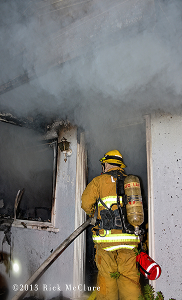 photo of fatal North Hollywood house fire LAFD