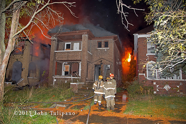 Detroit firemen at work