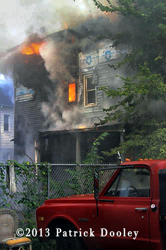 Hartford CT fire Department fighting house fire