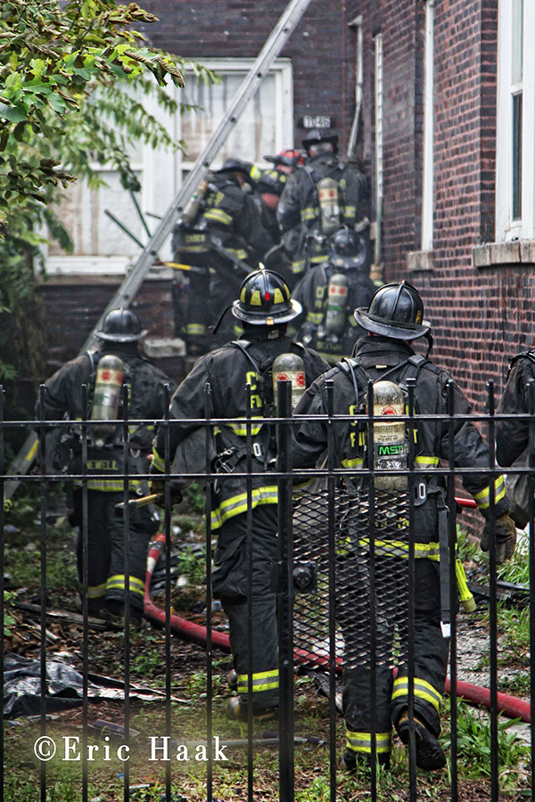 Chicago Fire Departmental at building fire