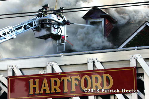 house fire in Hartford CT 10-20-13