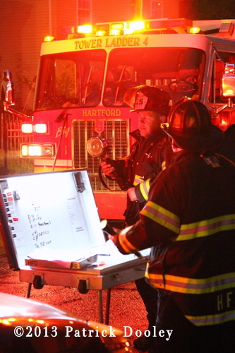 Hartford CT Fire Department battles big house fire at night