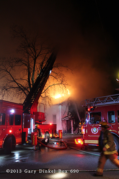 Cambridge Ontario Canada fire scene photos