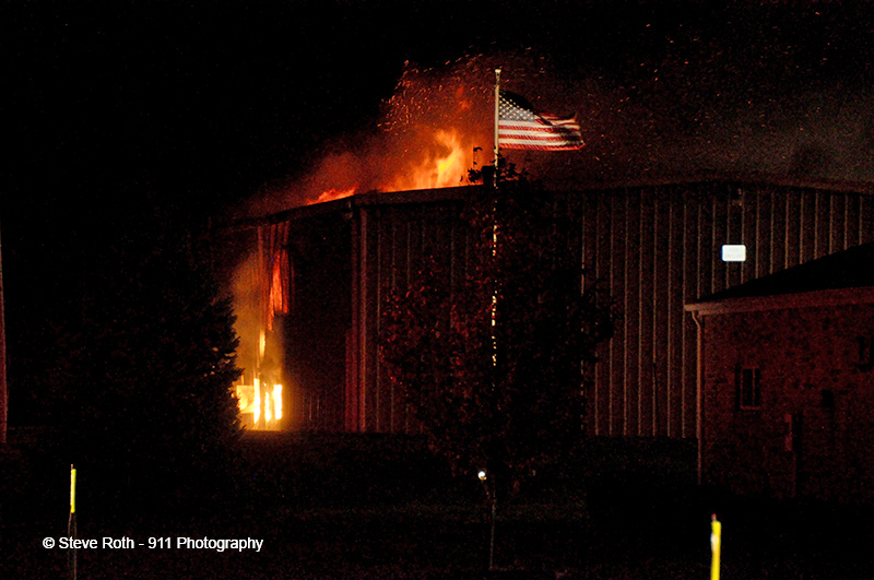 commercial fire in Latimore Township PA