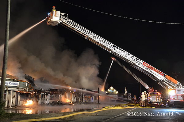 photos of big fire in Hadley MA 10-27-13