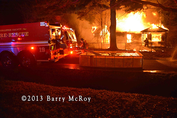 Colleton County Fire Rescue personnel battle rural house fire