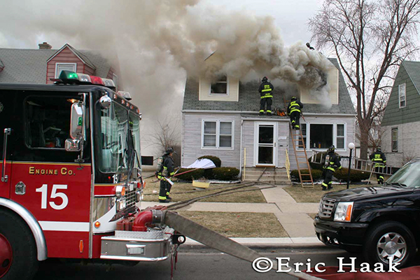 photo of house fire in Chicago