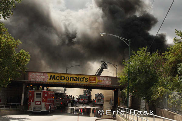 large 2-alarm fire in Chicago