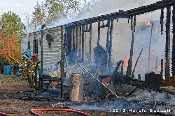 Mobile home fire in Colleton County SC