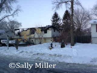 house destroyed by fire