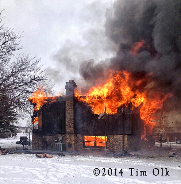 Lynwood house fully engulfed by fire 1-26-14