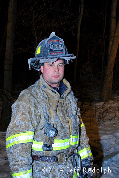 fireman covered with ice