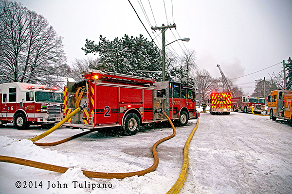 St Charles firefighters battle house fire in frigid weather
