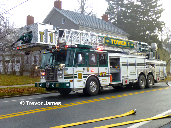 Middletown Volunteer Fire Department (MD) fights attic fire 1-15-14