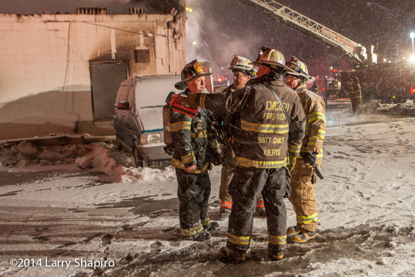 chief fire officers at fire scene