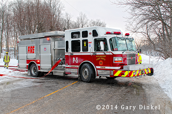 Rosenbauer fire engine in Kitchener Ontario