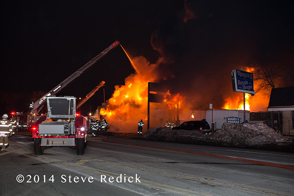 huge fire at tire warehouse