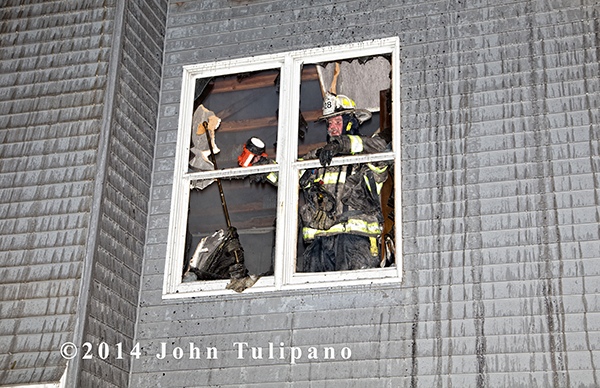 fire chief inside burning building