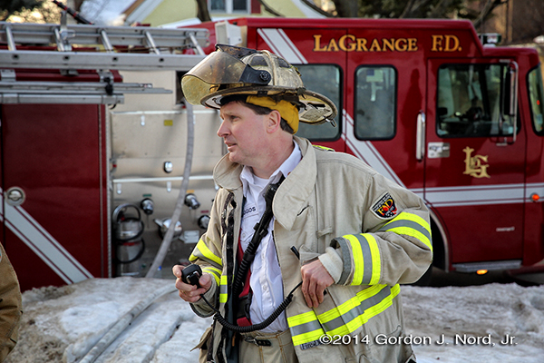 chief fire officer a t fire scene