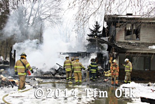 remains of house destroyed by fire