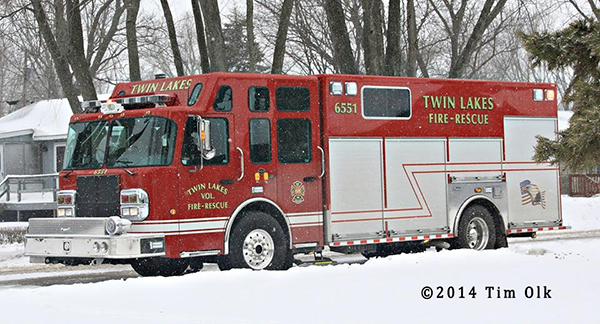 Twin Lakes Fire Department squad