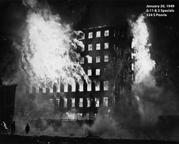 historic fire photo from Chicago