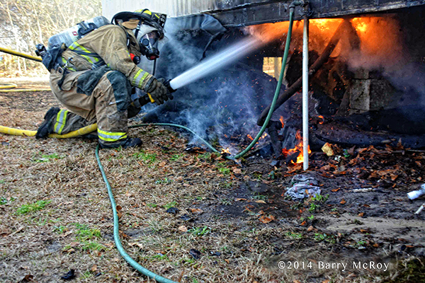 iceman battle mobile home fire