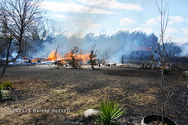 mobile home destroyed by fire