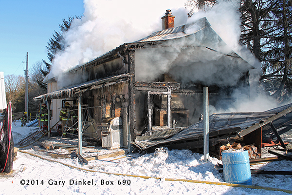 house gutted by winter fire