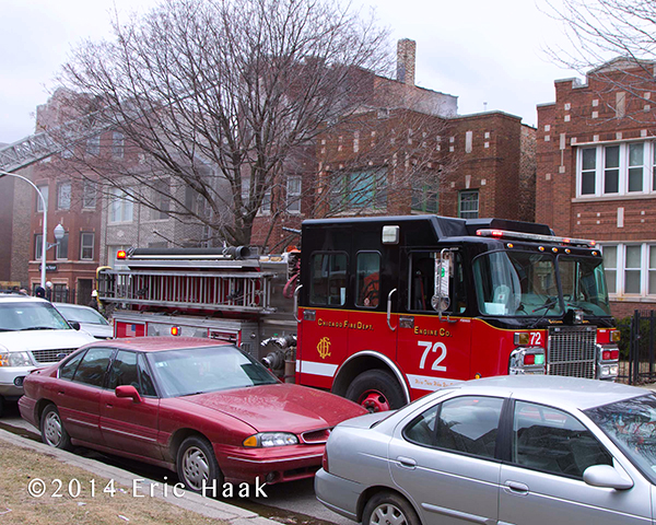 Chicago FD Spartan fire engine at fire scene