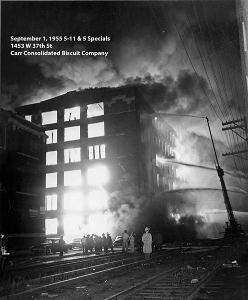 historic fire scene photo from Chicago