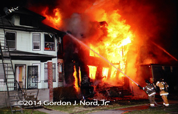 massive house fire in Detroit