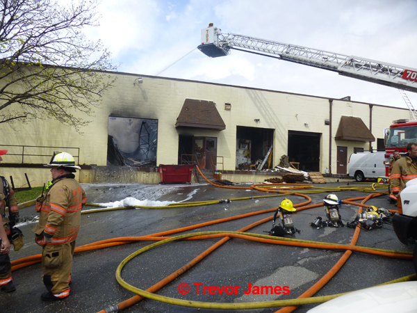 commercial building gutted by fire