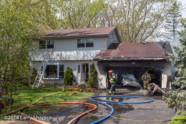 garage destroyed by fire