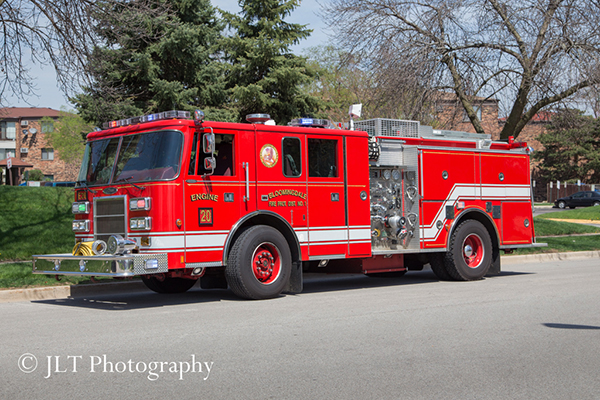 Bloomingdale Fire District engine.