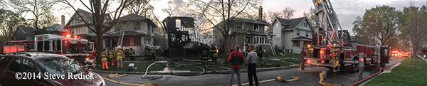 panorama of fire scene