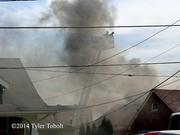 heavy smoke at fire scene