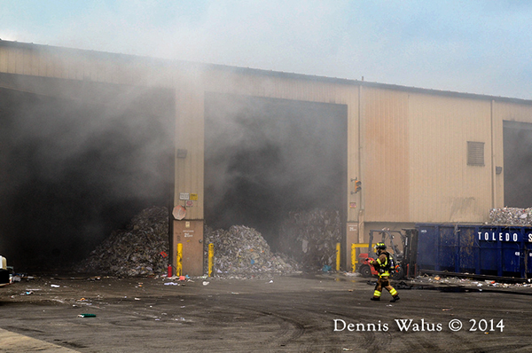 fire in recycling center