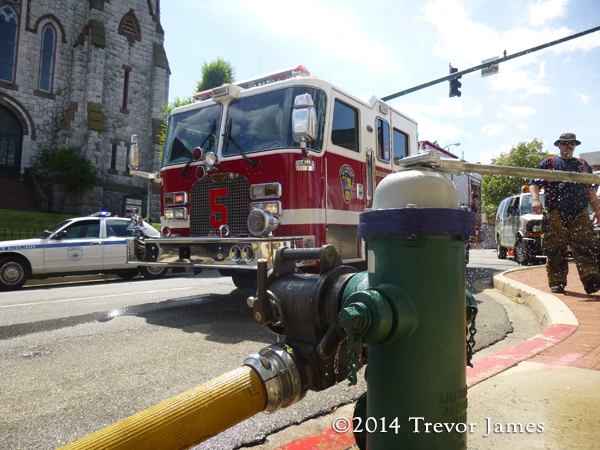 fire hydrant and fire engine