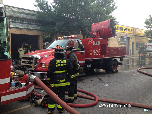 mobile ventilation unit at Chicago fire