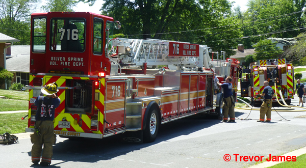 tillered aerial fire truck