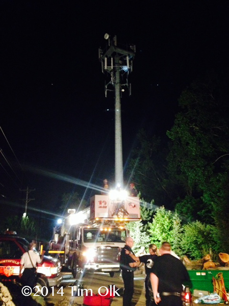 high angle rescue from cell tower
